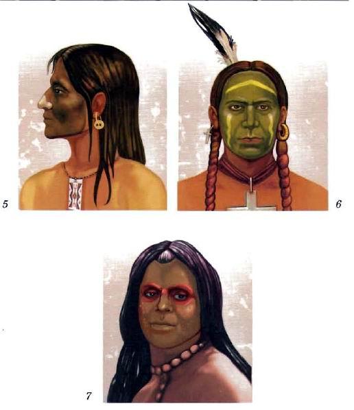 индейцы боевой фото раскраске в