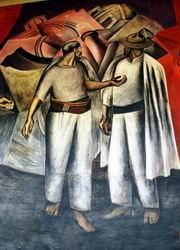 X. К. Ороско. Разрушение старого мира. Фреска. 1922—1924.