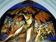 X. К. Ороско. Прометей. Фреска. 1930. Помона-колледж. США