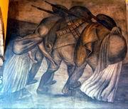 X. К. Ороско. Революционеры. Фреска. 1926—1927. Галерея Большого двора Национальной подготовительной школы. III этаж