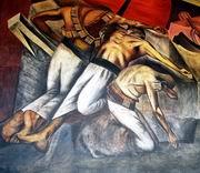 X. К. Ороско. Окоп. Фреска. 1922—1924. Галерея Большого двора Национальной подготовительной школы. I этаж