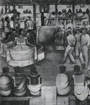 Д. Ривера. Танец в Теуантепеке. Фреска. 1924—1925. Министерство народного просвещения. Двор праздников