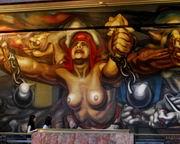 Д. А. Сикейрос. Новая демократия. Пироксилин. 1944. Музей изящных искусств, Мехико