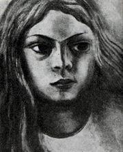 Д. А. Сикейрос. Портрет девочки. Пироксилин. 1935