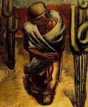 Д. А. Сикейрос. Крестьянская мать. Масло. 1929. Музей изящных искусств, Мехико