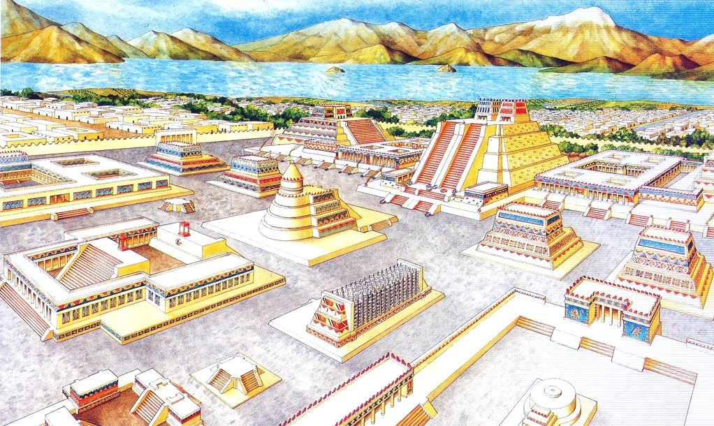 a description of the city of tenochtitlan in mesoamerica