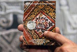На перуанской монете в 1 новый соль вычеканен мочикский храм Уака-де-ла-Луна. Фото - ANDINA / Vidal Tarqui / andina.com.pe