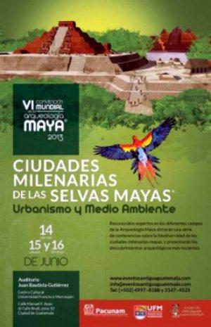 В Гватемале с 14 по 16 июня пройдет VI Всемирный конгресс по археологии майя