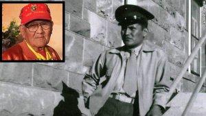Индеец племени навахо, Честер Нез. Один из группы 29 шифровальщиков индейцев навахо армии США.