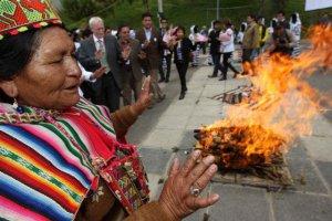 В Ла-Пасе открылась выставка-ярмарка национальной кухни Боливии. Фото - Martin Alipaz / EFE