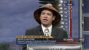 Глава Национального конгресса американских индейцев Брайан Кладусби (архивный кадр видео, 2014)