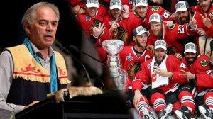 Глава ассамблеи коренных народов Квебека и Лабрадора Гаслен Пикар требует клуб НХЛ Чикаго Блэкхокс изменить логотип