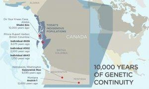 Индейцы Cеверо-западного побережья Северной Америки и их предки проживают в регионе уже свыше 10 тыс.лет. Графика: Julie McMahon, University of Illinois