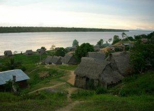 Одно из сообществ индейцев шипибо