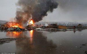 Закрытие лагеря протестующих против DAPL. Фото: Terrey Sylvester / REUTERS