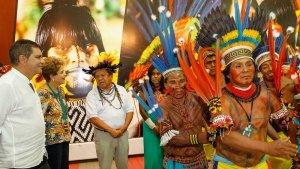В Бразилии проходят I Всемирные Игры аборигенов. На открытии. Фото: Roberto Stuckert Filho / PR