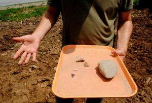 В Иллинойсе раскопали участки пяти домов Миссисипской культуры и ещё более древний топор. Фото - Adam Testa, The Southern / thesouthern.com