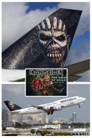 Хвост самолета рок-группы Iron Maiden украсили иероглифами майя