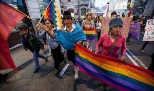 Протестующие в Эквадоре индейцы покидают Кито. Архивное фото: EFE, 2015