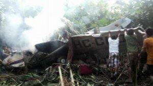 Разбился самолёт, перевозивший людей из Сараяку после празднования официального извинения Эквадора (видео)