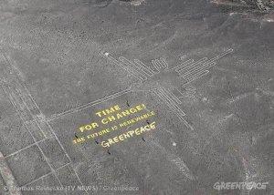 Перу обвиняет Гринпис в нанесении ущерба рисункам Наска