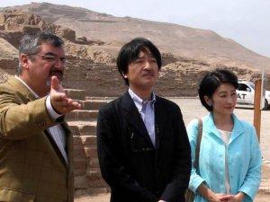 Принц Акисино и принцесса Кико посетили археологический комплекс Пачакамак. Фото - Vidal Tarqui / Andina