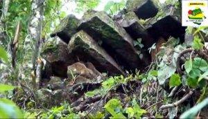 В Никарагуа на склоне горы Апатума найдена древняя постройка из вулканической породы