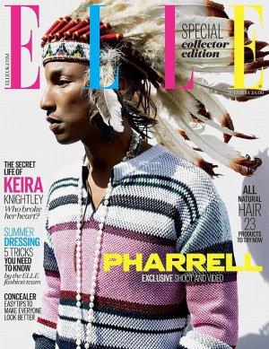 Фарреллу Уильямсу и британскому выпуску журнала ELLE досталось за снимок певца в роуче