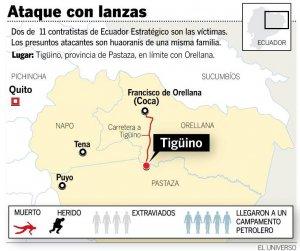 Индейцы ваорани атакуют подрядчиков эквадорской нефтяной компании, есть жертвы. Иллюстрация - El Universo / eluniverso.com