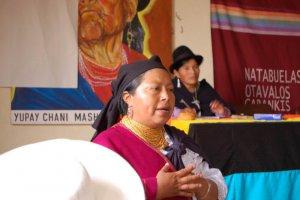 Бланка Чанкосо, лидер индейского движения. Архивное фото