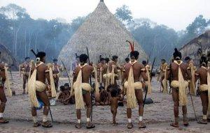 Индейцы энавене-наве исполняют ритуал yãkwa. Фото - Fiona Watson/Survival
