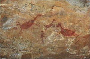 Наскальное изображение в Национальном парке Серра-де-Капивара, Бразилия. Фото - maria-brazil.org
