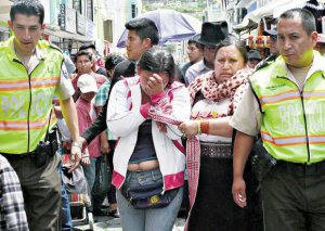 Мария О. признала, что она совершила кражу. Фото - elnorte.ec