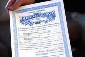Свидетельство о регистрации брака у объединенного племени Шайеннов-Арапахо штата Оклахома. Фото - Reuters
