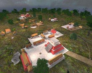 Цифровая реконструкция Чунчукмиля, крупного города цивилизации майя, расположенные на западе современного мексиканского штата Юкатан. Иллюстрация: David R. Hixson