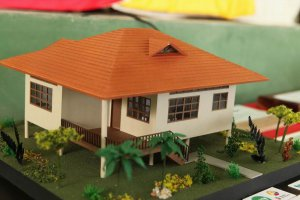 Макет дома «Поселка тысячелетия» в Эквадоре