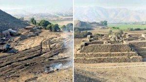В Перу разрушена древняя пирамида комплекса Эль-Параисо. Фото - El Comercio/ Rosario Seminar