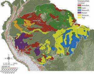 Языковое разнообразие Амазонии на момент контакта с европейцами. Рис. Clement C.R. и др.