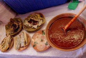 Ярмарка национального блюда тамаль проходит в Мехико. Фото - Notimex