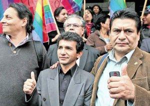Фернандо Вильявисенсио, Клевер Хименес и Карлос Фигероа на фото 2013 года. Фото - El Comercio / elcomercio.com