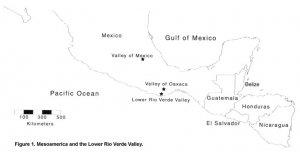Долины Нижняя Рио-Верде и Оахака на карте Мексики. Рис. Famsi.org