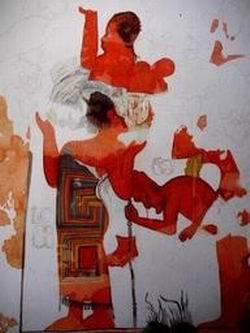 Уникальная фреска майя в городище Ла-Бланка (Гватемала). Фото - AFP