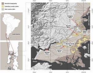 Карта Монте-Верде. Рис. Tom D. Dillehay et.al.
