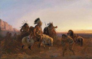 Карл Фердинанд Вимар — немецкий художник, представитель Дюссельдорфской художественной школы, картины которого были посвящены в основном индейцам Северной Америки и в целом Дикому Западу, а также бизонам