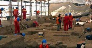 В Ла-Пасе раскапывают поселение эпохи Тиуанако. Фото: кадр видео