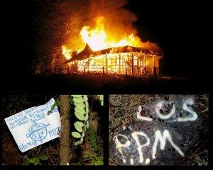 Подожжённая церковь в Чили и листовки мапуче