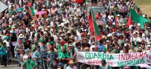 Колумбийские индейцы присоединяются к протестам. Фото - ONIC