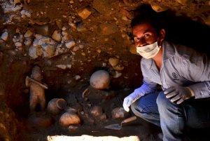 Марко Савалета, археолог Национального института антропологии и истории Мексики. Фото - Meliton Tapia/INAH