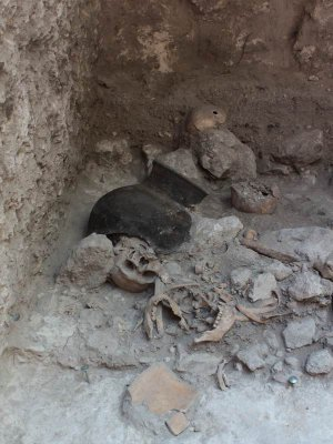Найдено массовое захоронение древних майя в Ушуле. Фото - Nicolaus Seefeld/Uni Bonn.