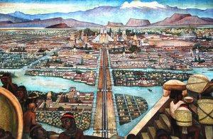 Теночтитлан. Фрагмент фрески Диего Ривера